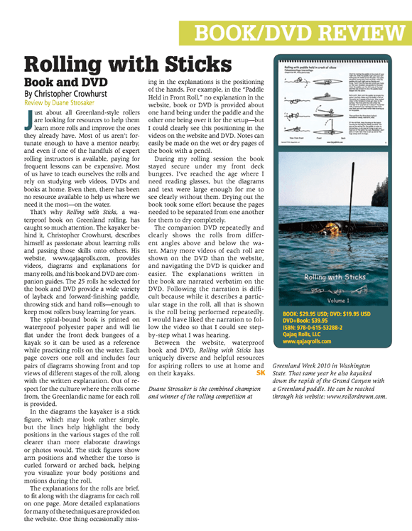 Sea Kayaker Magazine – Rolling with Sticks