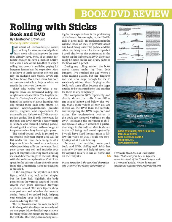 Sea Kayaker Magazine – Rolling with Sticks