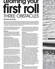 Learning your first roll – three obstacles