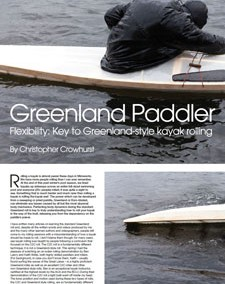 Flexibility – Key to Greenland style kayak rolling